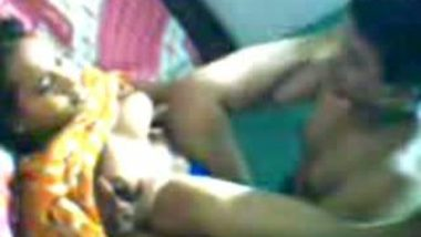 Desi aunty getting boobs sucked and fucked by lover