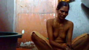 Bangladeshi Maid taking shower.