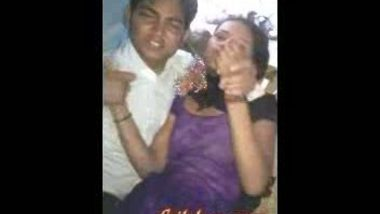 Young desi girl with her lover in Chatai
