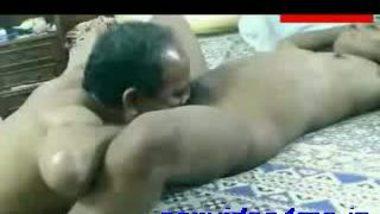 Chacha putting tounge in her bhatiji ki chut mein