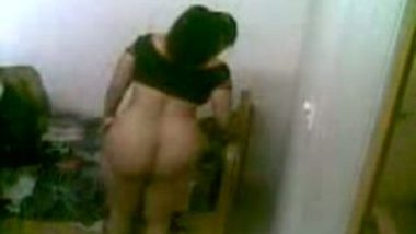 Indian sex of big ass mature aunty hardcore sex with young servant