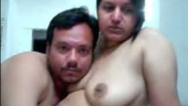 Noida BBW aunty first time front of webcam with hubby's friend