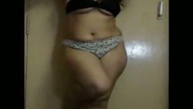 Bhabhi seductive strip show for secret sex lover