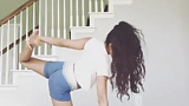 Hot Indian Girl Yoga