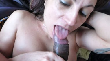 NRI house wife sucking and playing with big cock