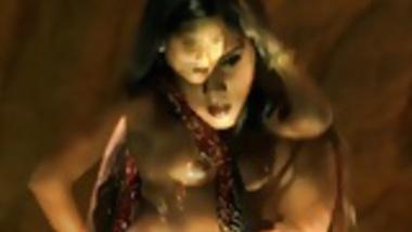 Indian Brunette Dance Gracefully