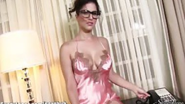SunnyLeone Sexiest kinky pink lingerie on Sunny Leone