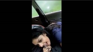 Hot Mallu Babe Sucking Lover's Penis In Car