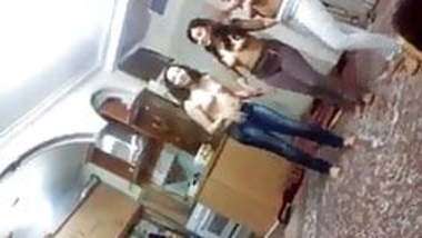 Indian Hostel Girls Topless enjoying