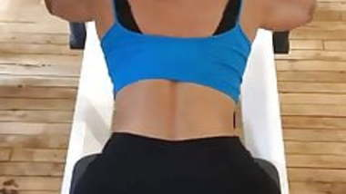 Padma Lakshmi sexy exercising