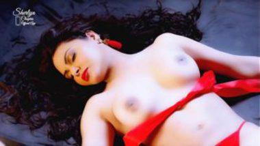 Sherlyn Chopra Showing Boobs Erotically