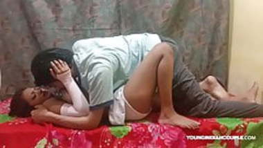 Hot Young Amateur Indian Teen Couple having fun at Home