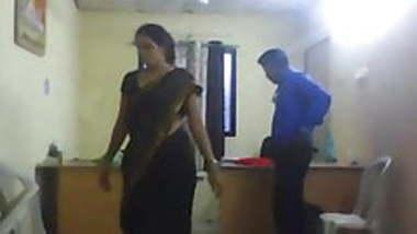 Office girl with hidden camera