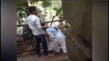 Caught Desi Girl Giving Hot Blowjob Behind School
