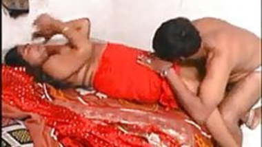 Red Saree Aunty