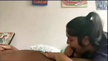 Indian College couple in canteen blowjob