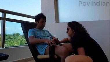 Outdoor risky sex in public POV Indian