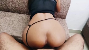 Indian Babe Rides Cock on period