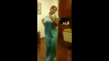 Tamil Wife Sumithra Hot Dance for husband