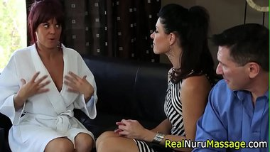 Fetish masseuse blow cock