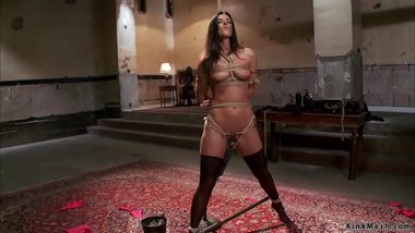 Busty MILF is punished and fucked