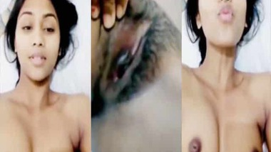 Hot girlfriend sexy nude selfie video