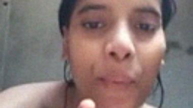 Nude bathroom selfie video of hot village girl