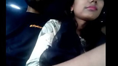 Indian desi lover romance in taxi