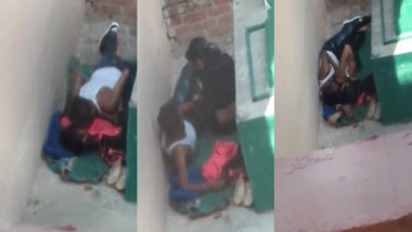 Desi lovers rooftop sex captured by a peeping tom