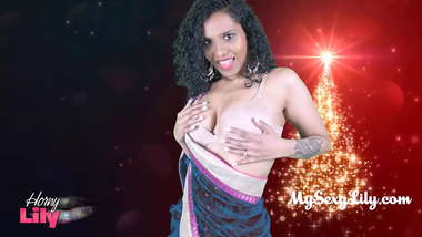 Horny Lily Christmas Sex With New Year Indian Porn | Horny Lily In Clear Hindi Audio