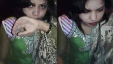 Neighbour Bhabhi in Green Suit Giving Blowjob 2 BF wid Audio