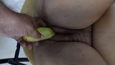 Vijji with Veggie in Pussy