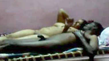Desi nude couple relax to rest on bed after fucking