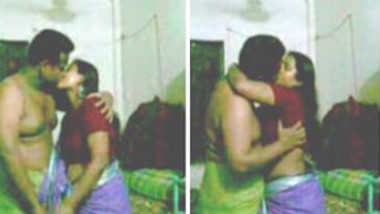 aunty in saree having sex with her husband