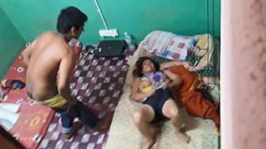 Desi hostel room hidden cam