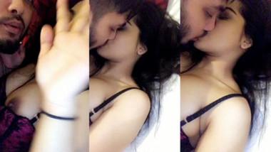 Desi dark nipple babe love smooching