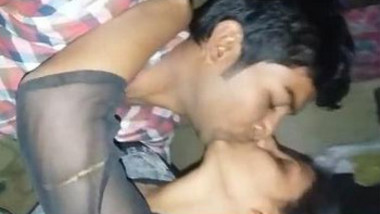 Cute Indian lover Kissing & Boob pressing and Blowjob Selfie