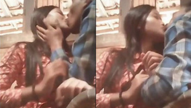 Indian bhabhi kissing with lover