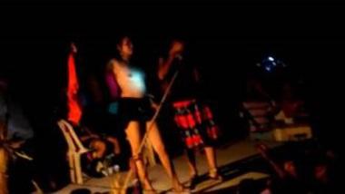 Hot Telugu Girls' Naked Record Dance At Night