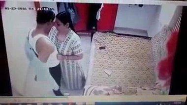 Desi Aunty Caught Having Affair In CCTV