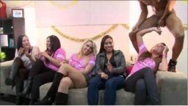 Horny Girls Enjoying A Male Stripper