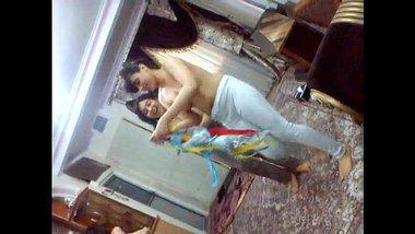Indian topless girls having fun in ladies hostel