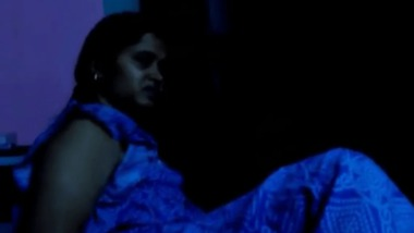 Indian Aunty exposing her pussy for hubby in dark