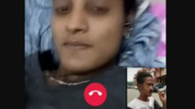 Cute Tamil Malaysian Girl Showing on Video Call