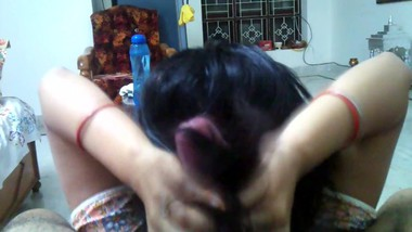 Indian wife long hair hair job