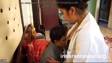 Doctor Aunty making foreplay romance with patient