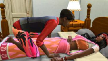 Animated south indian mom sex with step son