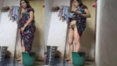Indian can see the hidden camera that films her stripping for XXX bathing