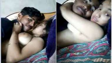Indian offers partner to suck her XXX nipples in amateur porn video