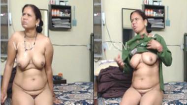 During quarrel Desi aunty performs XXX strip show to calm down hubby